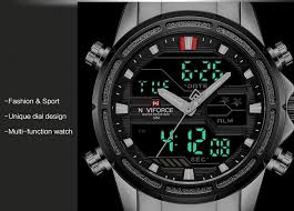 <b>NAVIFORCE Top Brand Men</b> Military Sport Watches Mens LED ...
