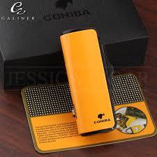 COHIBA Pocket <b>Lighters Butane Gas Cigar Torch Lighter</b> Metal Mini ...