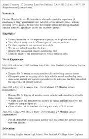 Professional Member Service Representative Templates to Showcase     My Perfect Resume Resume Templates  Member Service Representative