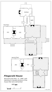 Phillip Fitzgerald HouseReconstructed floor plans of Fitzgerald House in    Drawing by author