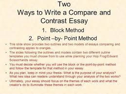 compare  amp  contrast essays  planning brainstorm  similarities    two ways to write a compare and contrast essay  block method  point