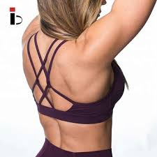 Free Tax <b>Hot Sexy Yoga Bra</b> Strappy <b>Back</b> Fitness Women Sports ...