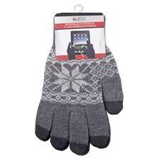 <b>Теплые перчатки для сенсорных</b> дисплеев M Grey 0L 00000029 ...