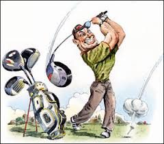 Image result for cartoon golfing pics