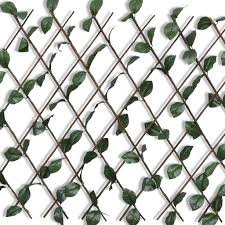 LYUMO Expandable Willow <b>Trellis Fence 5 pcs</b> with Artificial Leaves ...