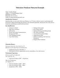 television producer resume sample resumesdesign com television