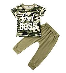 Stylish Toddler Kids Boy Girl Boss Tops Camouflage T ... - Amazon.com