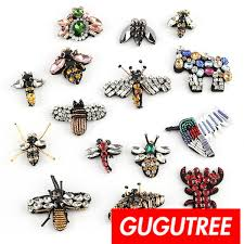 2018 <b>GUGUTREE Embroidery</b> Beaded <b>Bee</b> Patches,Crystals ...