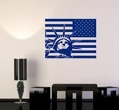 liberty bedroom wall mural:  hot wall vinyl usa flag statue of liberty new york cool decal free shipping