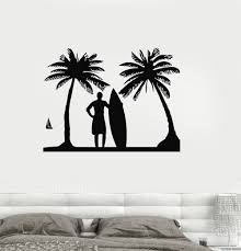 palm tree wall stickers: vinyl decal surf relax beach vacations surfing palm wall stickerschina mainland