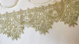 Gold <b>Lace</b> Trim Retro Embroidered <b>Baroque Lace</b> Trim Antique ...