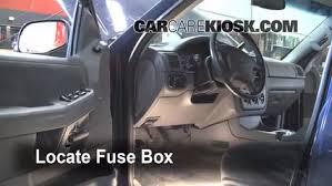 interior fuse box location 2002 2005 ford explorer 2002 ford locate interior fuse box and remove cover