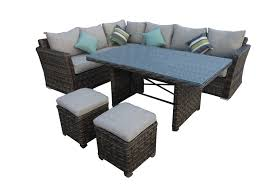 Low Dining Room Sets St Lucia 7 Piece Dining Setting Real Patio Living Clipgoo