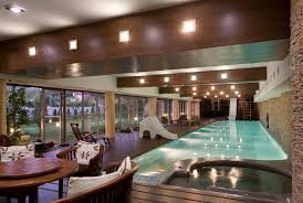 lighting on beams pool transitional with stacked stone hot tub beams lighting