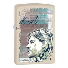 <b>Зажигалка ZIPPO Kurt Cobain</b> с покрытием Cream Matte, кремовая ...