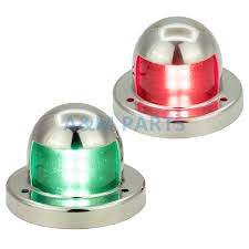 12v marine boat yacht led navigation light square stainless steel rear tail lamp waterproof