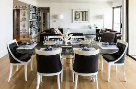 dining chairs chair white modern white and black dining room sets marceladick