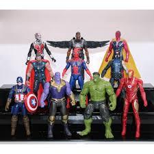 10pcs <b>Avengers</b> 3 Infinity War Thanos Thor Hulk Figure Toy ₱1028