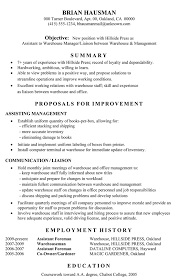 functional resume sample  assistant to warehouse managerfunctional sample resume assistant warehouse manager  c  susan ireland