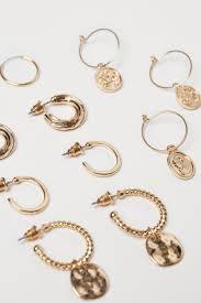 <b>6</b> пар <b>серег</b> - Золотистый - Женщины | H&M RU