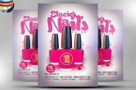 nail flyer photos graphics fonts themes templates creative nail bar flyer template