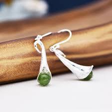 Original <b>s925 pure silver earrings</b> female fashion <b>silver</b> ... - Qoo10