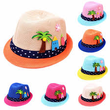Summer <b>2 6Y</b> Baby <b>Cartoon Children</b> Breathable Hat Straw Hat <b>Kids</b> ...