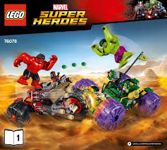 <b>LEGO</b> Hulk vs. Red Hulk Instructions <b>76078</b>, <b>Marvel Super Heroes</b>