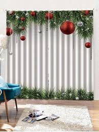 <b>Christmas Ball</b> Pattern 2PCS Window Curtain | <b>Christmas balls</b> ...