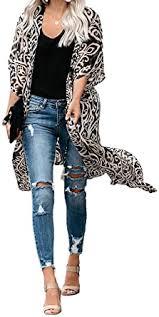 Dokotoo Womens <b>Fashion</b> Bohomian <b>Printed</b> Open Front Half ...