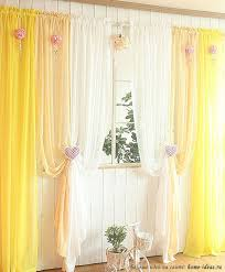 Желтые занавески — хороший вариант для создания весеннего ...