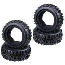 <b>4Pcs RC</b> Buggy <b>Rubber Tires</b> With Foam Inserts OD:116mm ID ...