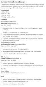 best customer service resume examples  1 customer service resume example