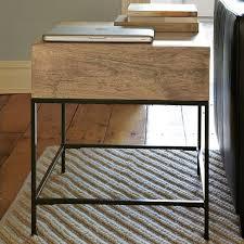 industrial storage side table west elm buy west elm industrial storage coffee table