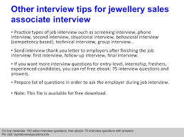 jewellery s associate interview questions and answers previous