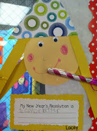 life in fifth grade new year s resolutions i did this activity my 5th graders today i didn t remember to cut out the hats scrapbook paper so they didn t turn out near as cute