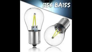 <b>1156 BA15S</b> P21W <b>COB</b> White <b>LED</b> Turn Signal Light Reverse ...