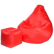 Комплект: <b>Кресло Мешок</b> Красное (Оксфорд) XL + пуфик
