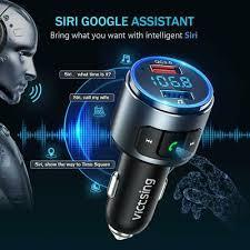 VicTsing Bluetooth <b>5.0</b> FM Transmitter Radio AUX Adapter <b>Car</b> Kit ...