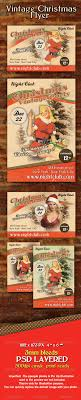 christmas party flyers premium files psddude vintage retro christmas flyer template