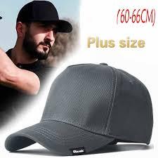 60-65 Cm <b>Big</b> Head Man <b>Large Size</b> Baseball Hats <b>Summer</b> ...