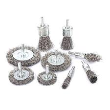 "9Pcs Stainless <b>Steel Wire Brushes</b> Wheel kit for Drill with 1/4""shank ..."