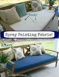 makeover budget outdoor furniture living refurbish your dirty patio furniture cushions by fabric spray painting