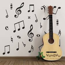 Pack of 50 <b>Music Wall Stickers</b> Music Symbols Wall Decals for kids ...