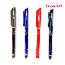DELVTCH <b>12pcs</b>/<b>set Erasable Pen</b> Ink <b>0.5 mm</b> Gel <b>Pen</b> 4 Color ...