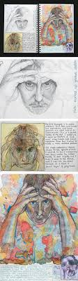 top in the world stunning self portraits by an a level art student identity sketchbook page