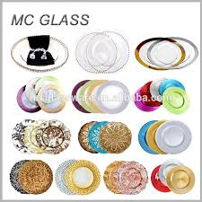 charger plates decorative: hot selling handmade decorative gold silver glass chargers plates