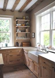 open kitchen design farmhouse: country farmhouse kitchen images open shelves and two sinks help make the accessible to all