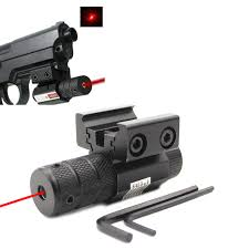 2019 Compact <b>Tactical Mini Red</b> Dot Laser Sight Scope Fit Picatinny ...