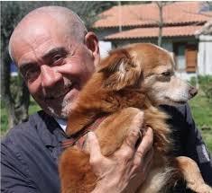 Mauro Chiarle col suo inseparabile volpino Sole. « - mauro